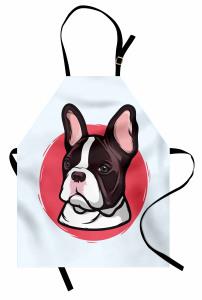 Uzun Kulaklı Köpek Mutfak Önlüğü Kahverengi