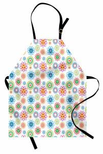 Rengarenk Kalp Çiçeği Mutfak Önlüğü Çeyizlik Şık
