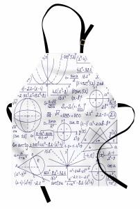 Matematik ve Geometri Mutfak Önlüğü Trend