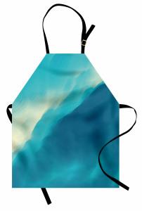 Dalgalı Deniz Desenli Mutfak Önlüğü Sanat Eseri Şık