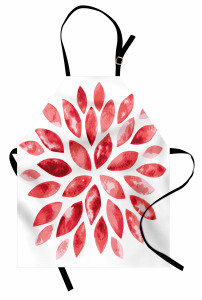 Pembe Dekoratif Çiçek Mutfak Önlüğü Çeyizlik Şık