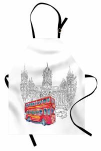 Kırmızı Otobüs Seyahati Mutfak Önlüğü Hindistan Şık