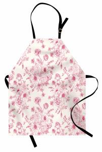 Pembe Çiçek Buketi Mutfak Önlüğü Çeyizlik
