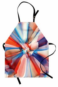 Sanatsal Çiçek Desenli Mutfak Önlüğü Şık Tasarım