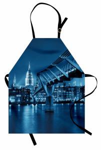 Modern Köprü ve Şehir Mutfak Önlüğü Nostaljik Şık