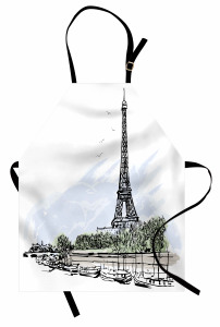 Eyfel Kulesi ve Tekne Mutfak Önlüğü Paris