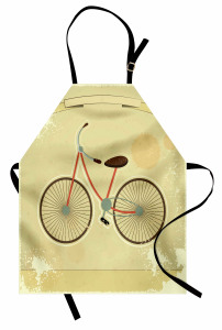 Nostaljik Bisiklet Mutfak Önlüğü Dekoratif