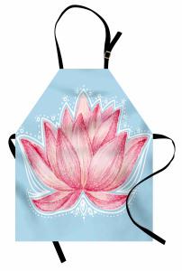 Pembe Lotusun Büyüsü Mutfak Önlüğü Çeyizlik