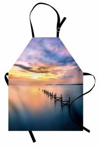 Denize Giden Yıkık Yol Mutfak Önlüğü Dekoratif
