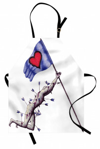 Sevginin Bayrağı Düşmez Mutfak Önlüğü Romantik