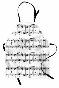 Porte ve Notalar Mutfak Önlüğü Müziğin Dili