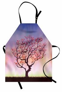 Rüzgarın Eğdiği Ağaç Mutfak Önlüğü Şık