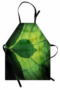 Yaprağın Arkası ve Önü Mutfak Önlüğü Yeşil Doğa
