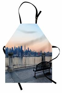 Bankta Manhattan Keyfi Mutfak Önlüğü Şehir