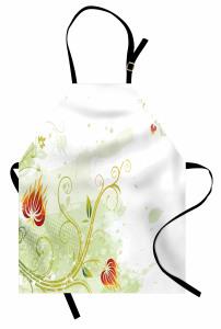 Alevli Sarmaşık Çiçeği Mutfak Önlüğü Çeyizlik