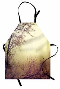Yaprakları Dökmüş Ağaç Mutfak Önlüğü Sonbahar