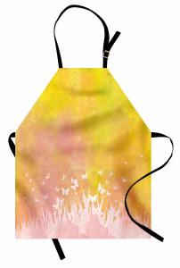 Çimenlik Kelebek Temalı Mutfak Önlüğü Şık