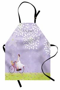 Gelin Çiçekli Bisikleti Mutfak Önlüğü Romantik
