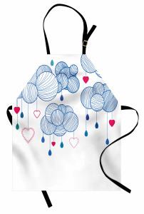 Kalpler Sarkan Balonlar Mutfak Önlüğü Dekoratif