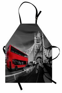 İki Katlı Otobüs Köprü Mutfak Önlüğü Londra Köprüsü