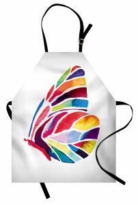 Yaprak Formlu Kelebek Mutfak Önlüğü Rengarenk