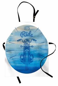 Retro Motosiklet Mutfak Önlüğü Haydi Sür