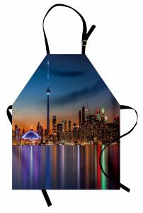 Gökdelenler ve Kule Mutfak Önlüğü Modern Şehir