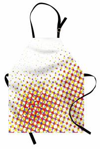 Renkli Geometrik Şekil Mutfak Önlüğü Şık Retro
