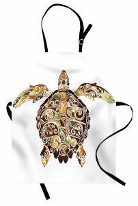 Kahverengi Kaplumbağa Mutfak Önlüğü Şık Tasarım