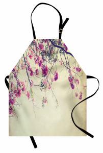 Nostaljik Kiraz Çiçeği Mutfak Önlüğü Çeyizlik Şık