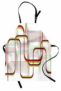 Dekoratif Eğriler Mutfak Önlüğü Şık Tasarım