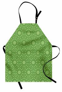 Dekoratif Yıldız Mutfak Önlüğü Şık Yeşil