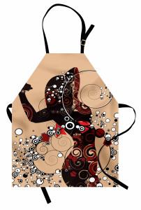 Şık Kadın Desenli Mutfak Önlüğü Dekoratif Dizayn
