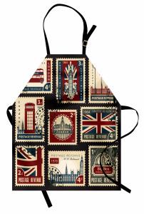 Londra Posta Pulları Mutfak Önlüğü Nostaljik Dekoratif