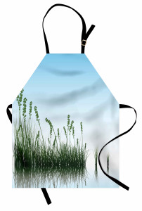 Çimen ve Mavi Gökyüzü Mutfak Önlüğü Dekoratif Şık