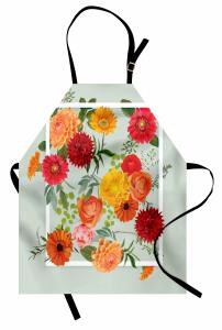 İlkbahar Çiçekleri Mutfak Önlüğü Çeyizlik Romantik Şık