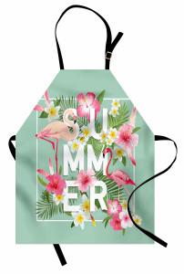 Tropik Çiçek Flamingo Mutfak Önlüğü Yaz