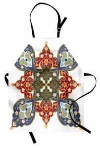 Oryantal Çiçek Süslemeli Mutfak Önlüğü Dekoratif Şık