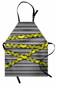 Olay Yeri Polis Bandı Mutfak Önlüğü Panjur Gri Sarı