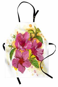Amber Çiçeği Desenli Mutfak Önlüğü Dekoratif Çeyizlik