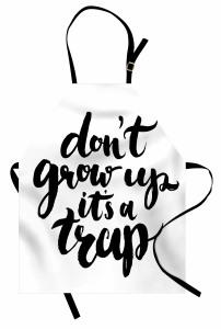Siyah Beyaz Kaligrafik Mutfak Önlüğü Büyümek Bir Tuzak