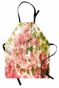 Begonvil Çiçekleri Mutfak Önlüğü Pembe Yeşil