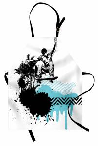 Palmiyeler ve Kaykaycı Mutfak Önlüğü Sanatsal