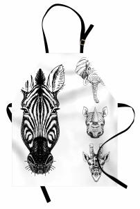 Savanadan Hayvan Başı Mutfak Önlüğü Afrika