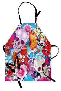 Kuru Kafa ve Kalpler Mutfak Önlüğü Balık Dekoratif