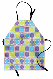 Rengarenk Limon Dilimi Mutfak Önlüğü Şık
