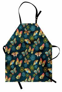 Renkli Kelebekler Dekor Mutfak Önlüğü Çeyizlik