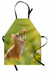 Uğur Böceği ve Pati Mutfak Önlüğü Tatlı Kedicik