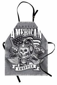 Kuru Kafa ve Motosiklet Mutfak Önlüğü Amerikan
