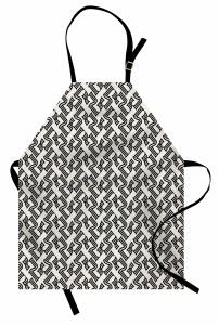 Stilize Beş Rakamı Mutfak Önlüğü Dekoratif